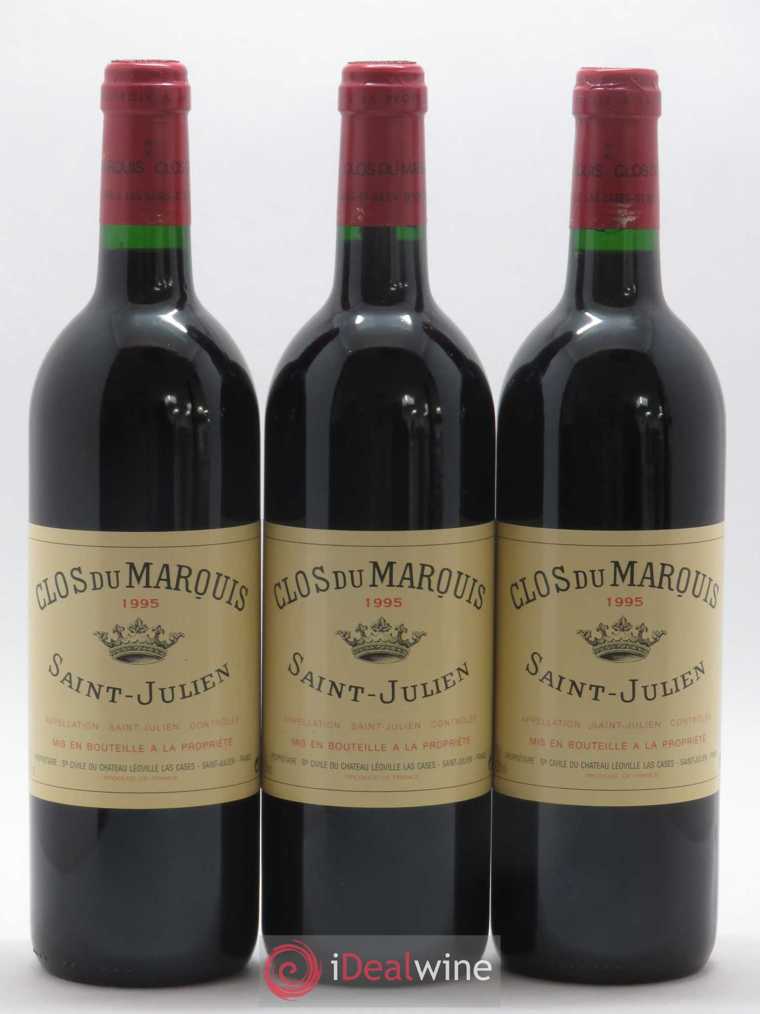 Clos du Marquis  1995 - Lot of 3 Bottles