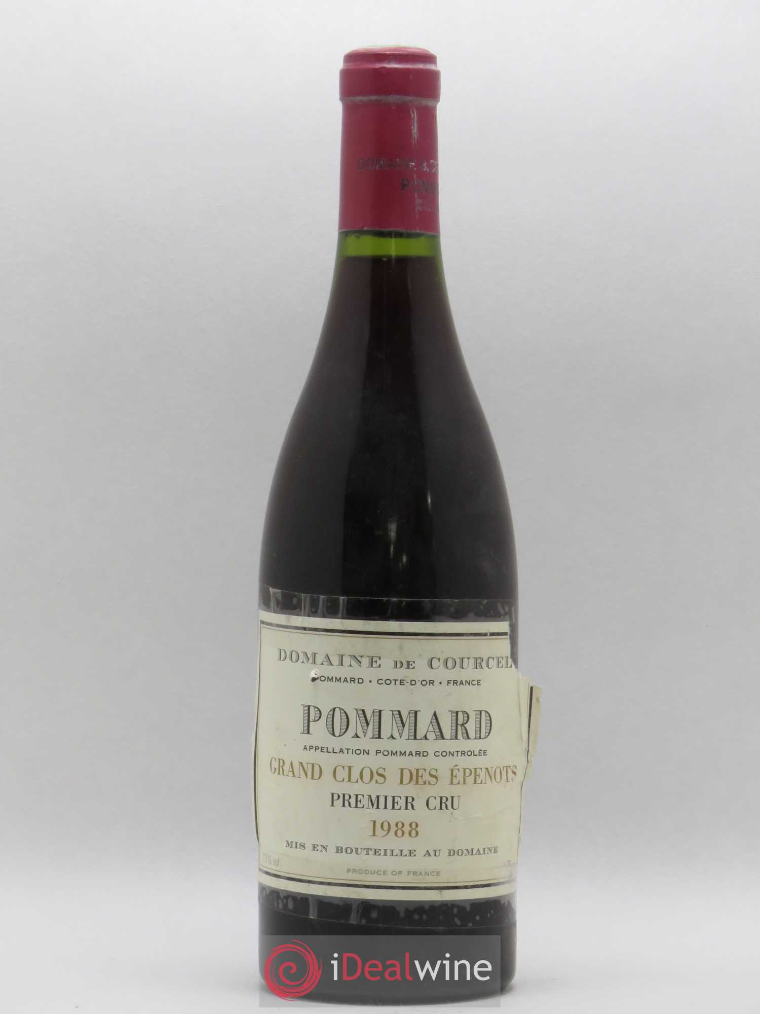 Pommard 1er Cru Grand Clos des Epenots de Courcel (Domaine)  1988 - Lot of 1 Bottle