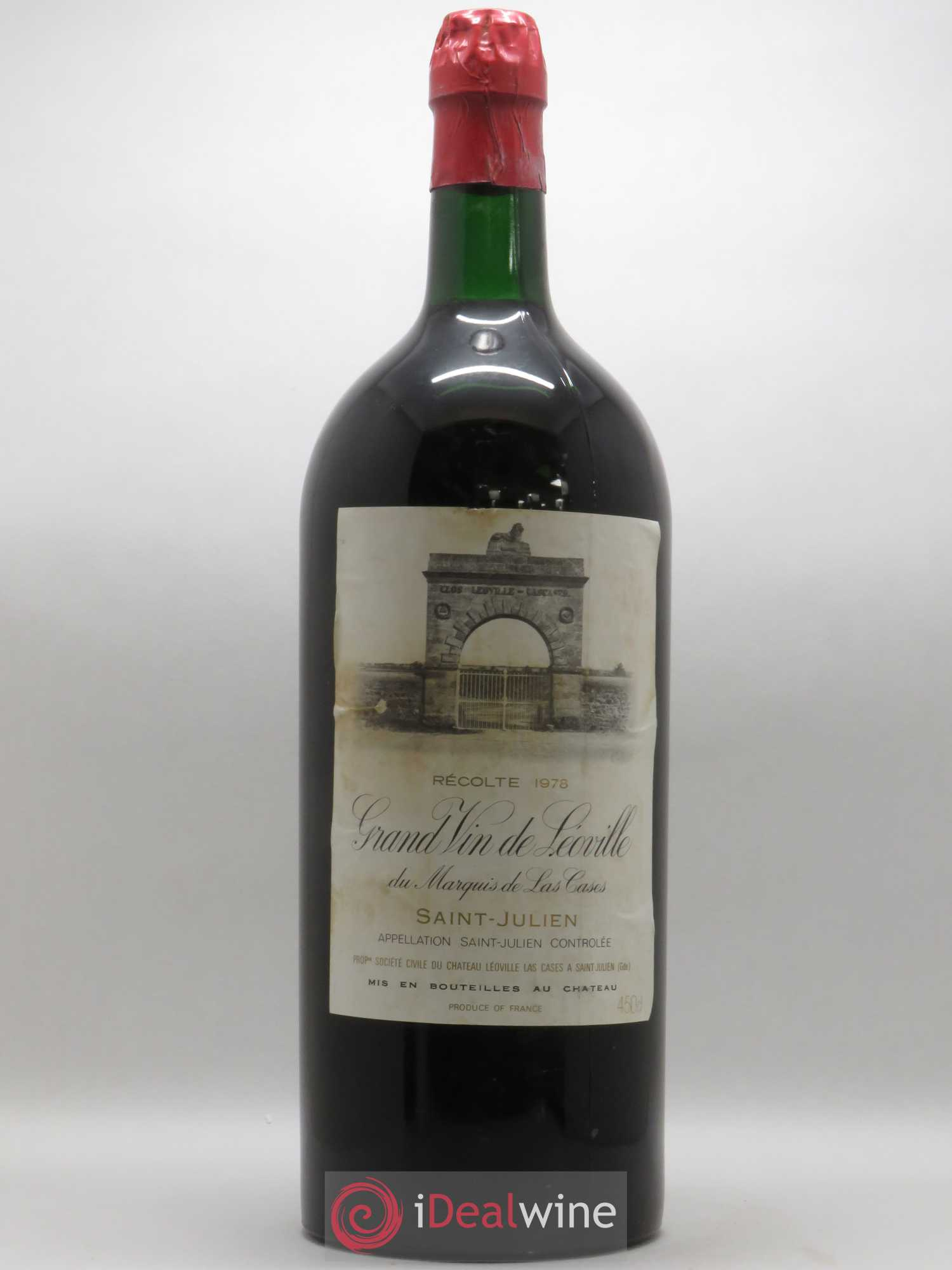 Château Léoville Las Cases 2ème Grand Cru Classé  1978 - Lot of 1 Jeroboam