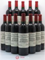 Bottle Château Haut Marbuzet  2005 - Lot of 12 Bottles
