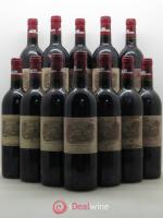 Bottle Château Lafite Rothschild 1er Grand Cru Classé  1991 - Lot of 12 Bottles