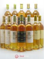 Bottle - Millesima 2 Rabaud-Promis- 2 Rieussec - 2 Guiraud - 2 Rayne-Vigneau- 2 Suduiraut - 2 Coutet 2001 - Lot of 12 Bottles
