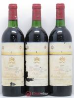 Château Mouton Rothschild 1er Grand Cru Classé  1983 - Lot of 3 Bottles