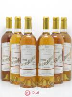 Château la Tour Blanche 1er Grand Cru Classé  2003 - Lot of 6 Bottles