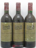Graves Chateau Haut Maine 1986 - Lot of 3 Bottles