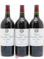 Château Sociando Mallet  2001 - Lot of 3 Magnums