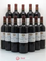 Bottle Château Sociando Mallet  2010 - Lot of 12 Bottles