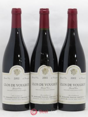 Clos de Vougeot Grand Cru Pascal Chevigny 2002 - Lot de 3 Bottles