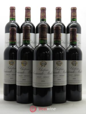 Bottle Château Sociando Mallet  2001 - Lot de 10 Bottles