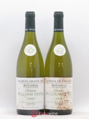 Chablis Grand Cru Bougros Côte Bouguerots William Fèvre (Domaine)  2008 - Lot de 2 Bottles