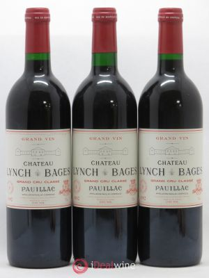 Château Lynch Bages 5ème Grand Cru Classé  1992 - Lot de 3 Bottles