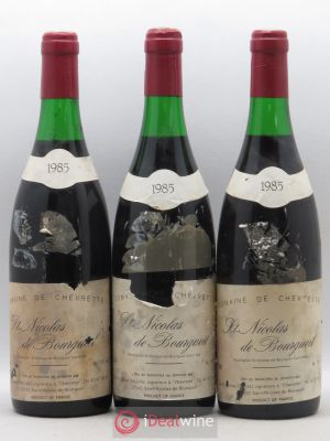 Saint-Nicolas de Bourgueil Domaine Chevrette J. Taluau 1985 - Lot de 3 Bottles