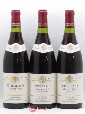 Echézeaux Grand Cru Jean Louis Drout Aîné  1988 - Lot de 3 Bottles