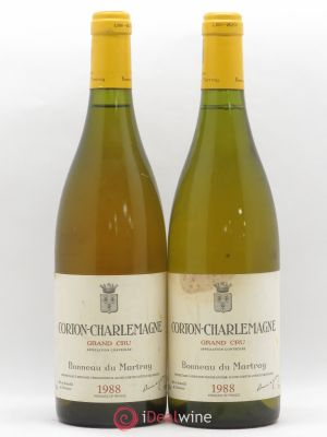 Corton-Charlemagne Grand Cru Bonneau du Martray (Domaine)  1988 - Lot de 2 Bottles