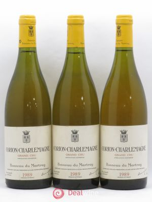 Corton-Charlemagne Grand Cru Bonneau du Martray (Domaine)  1989 - Lot de 3 Bottles