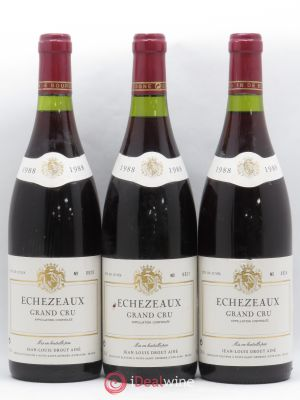 Echézeaux Grand Cru Jean-Louis Drout Ainé 1988 - Lot de 3 Bottles