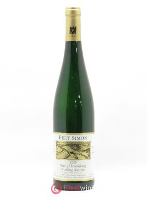 Riesling Bert Simon Serrig Herrenberg Auslese Goldkapsel 2005 - Lot de 1 Bottle