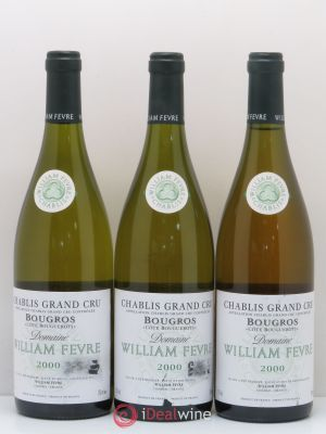 Chablis Grand Cru Bougros William Fèvre (Domaine)  2000 - Lot de 3 Bottles