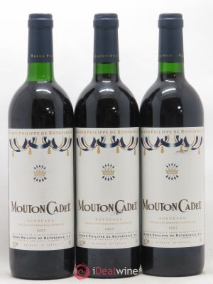 Château Mouton Cadet  1997 - Lot de 3 Bottles