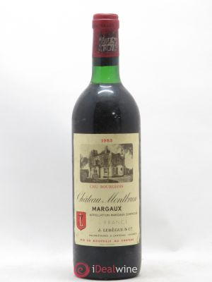 Château Montbrun Cru Bourgeois  1983 - Lot de 1 Bottle