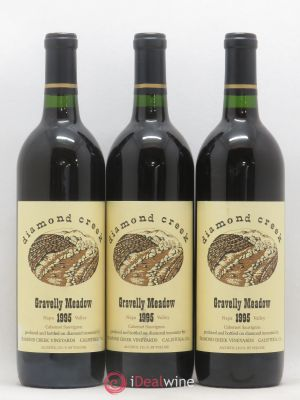 USA Napa Valley Gravelly Meadow Diamond Creek Vineyards 1995 - Lot de 3 Bouteilles