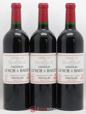 Château Lynch Bages 5ème Grand Cru Classé  2015 - Lot de 3 Bottles