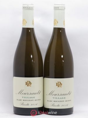 Meursault Marc Rougeot Dupin (no reserve) 2016 - Lot de 2 Bottles