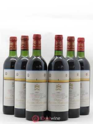 Château Mouton Rothschild 1er Grand Cru Classé  1983 - Lot de 6 Bottles