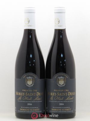 Morey Saint-Denis 1er Cru Les Monts Luisants Domaine Schmitt 2016 - Lot de 2 Bottles