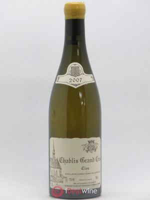 Chablis Grand Cru Clos Raveneau (Domaine)  2007 - Lot de 1 Bottle