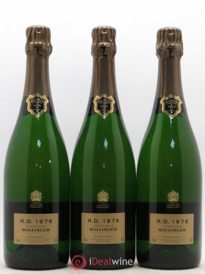 R.D. Bollinger  1976 - Lot de 3 Bottles