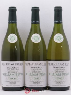 Chablis Grand Cru Bougros William Fèvre (Domaine) Côte Bouguerots 2006 - Lot de 3 Bottles
