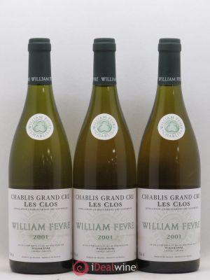 Chablis Grand Cru Les Clos William Fèvre (Domaine)  2001 - Lot de 3 Bottles