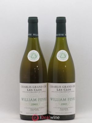 Chablis Grand Cru Les Clos William Fèvre (Domaine)  2001 - Lot de 2 Bottles