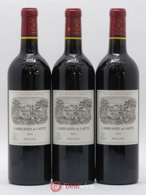 Carruades de Lafite Rothschild Second vin  2016 - Lot de 3 Bouteilles