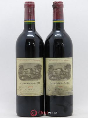 Carruades de Lafite Rothschild Second vin  2000 - Lot de 2 Bouteilles