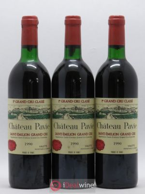 Château Pavie 1er Grand Cru Classé A  1990 - Lot de 3 Bottles