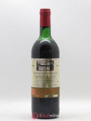 Château Monbousquet Grand Cru Classé  1983 - Lot de 1 Bottle
