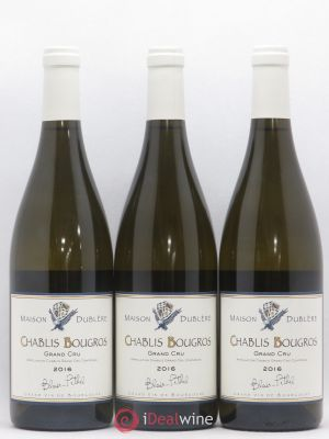 Chablis Grand Cru Bougros Maison Dublère Blair Pethel 2016 - Lot de 3 Bottles