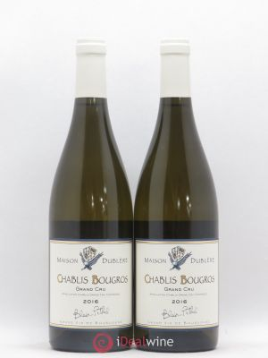 Chablis Grand Cru Bougros Maison Dublère Blair Pethel 2016 - Lot de 2 Bottles