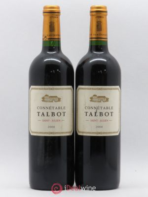 Connétable de Talbot Second vin  2008 - Lot de 2 Bouteilles