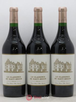 Clarence (Bahans) de Haut-Brion Second Vin  2013 - Lot de 3 Bouteilles