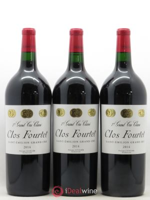 Clos Fourtet 1er Grand Cru Classé B  2014 - Lot de 3 Magnums