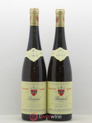 Riesling Grand Cru Brand Zind-Humbrecht (Domaine) Vendanges Tardives 1995 - Lot de 2 Bottles