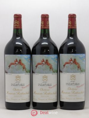 Château Mouton Rothschild 1er Grand Cru Classé  2012 - Lot de 3 Magnums