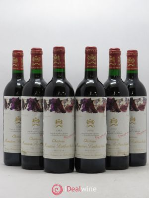 Château Mouton Rothschild 1er Grand Cru Classé  1992 - Lot de 6 Bottles