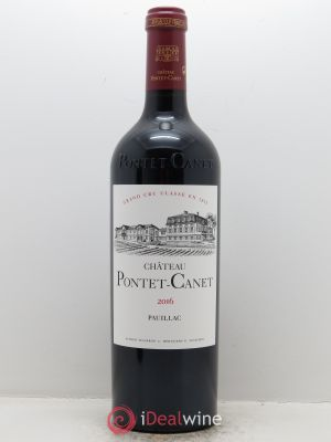 Château Pontet Canet 5ème Grand Cru Classé (OWC if  6 btls) 2016 - Lot de 1 Bottle