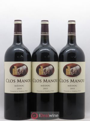 Clos Manou  2015 - Lot de 3 Magnums
