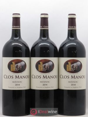 Clos Manou  2014 - Lot de 3 Magnums
