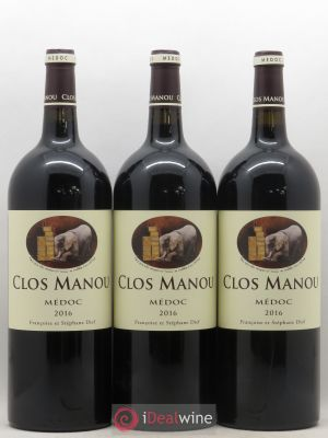 Clos Manou  2016 - Lot de 3 Magnums
